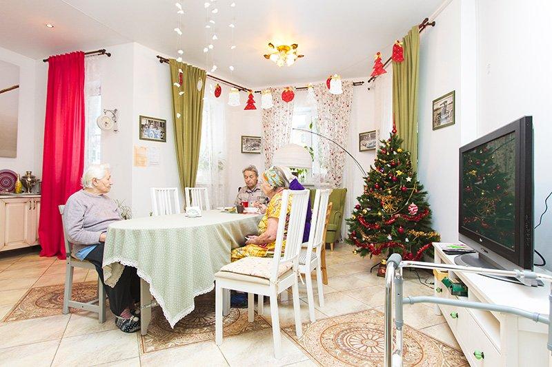 праздник в доме престарелых