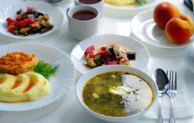 свежее питание в пансионате