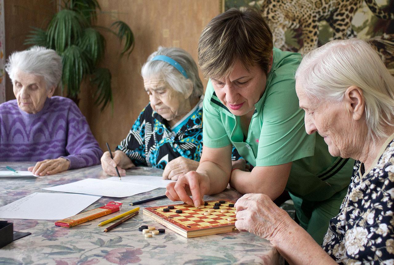 досуг в пансионате для престарелых в Запорожье
